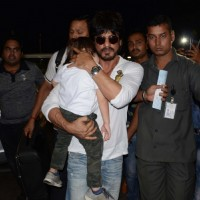 Shah Rukh Khan with his son Abram at Airport