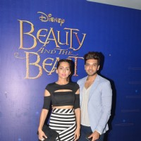 Anusha Dandekar and Karan Kundra at Special Screening of Disney's 'Beauty and the Beast'