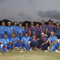 Celebs at a cricket match between Daring Dozen & Panthers