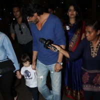 Shah Rukh Khan and AbRam Khan Snapped at Airport