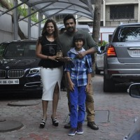 R Madhavan with wife & kid at Shilpa Shetty's Son 'Vivan's' 4th Birthday Celebrations