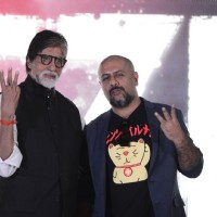 Amitabh Bachchan and Vishal Dadlani at Song Launch of 'TE3N'