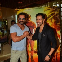 Handsome Hunks John Abraham and Varun Dhawan at Trailer Launch of 'DISHOOM'
