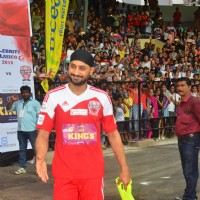 Harbhajan Singh at the Soccer Match !