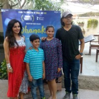 Nagesh Kukunoor with Krrish Chhabria and Hetal at Special Screening of Dhanak hosted by Mini Mathur