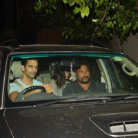 Angad Bedi and Shoojit Sircar at Special Screening of 'TE3N'