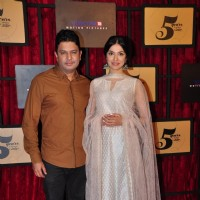 Bhushan Kumar with wife Divya Khosla at Viacom 18 Bash