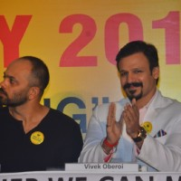 Rohit Shetty and Vivek Oberoi at Cancer Patients Aid Association's Event