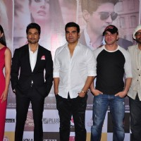 Gauahar Khan, Rajeev Khandelwal, Arbaaz Khan,Sohail Khan and Javed Jaffrey at Trailer Launch of film