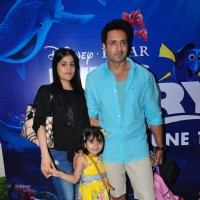 Iqbal Khan with  family at Special Screening of 'Finding Dory'