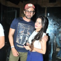 Jay Bhanushali with Mahhi Vij at Sana Khan's Birthday Bash!