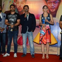 Vivek Oberoi, Riteish Deshmukh & Aftab Shivdasani at Trailer Launch of 'Great Grand Masti'