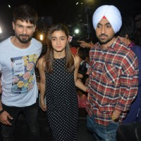 Shahid Kapoor, Alia Bhatt and Diljit Dosanjh Vists PVR Theatre to Watch Audience's Reaction for Udta