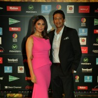 Lara Dutta with her husband at Star Studded 'IIFA AWARDS 2016'