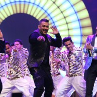 Suraj Pancholi, Salman Khan and Ranveer Singh performing at Star Studded 'IIFA AWARDS 2016'