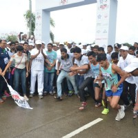 Mandira Bedi & Ali Fazal at 'Say No To Drugs' Marathon