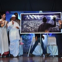Tanishaa Mukerji with Anna Hazare at Film Launch of 'Anna'