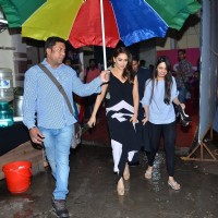 Madhuri Dixit Nene Snapped at Filmistan Studio