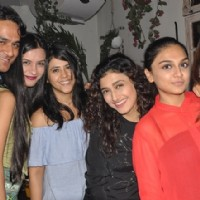 Actors Ekta Kapoor, Ragini Khanna and Krystle Dsouza at Launch of Mirabella Bar & Kitchen!