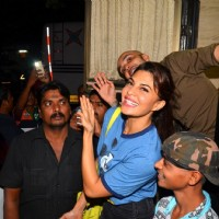 Jacqueline Fernandes poses on Shoot of 'A Flying Jatt'