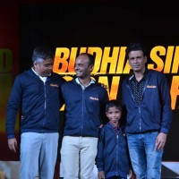 Manoj Bajpayee at Launch of Anthem of film Budhia Singh - Born To Run