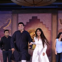 Siddharth Roy Kapur and Sunita Gowariker at Mohenjo Daro Promotional Event