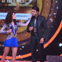 Manish Paul and Nora Fatehi on the sets of 'Jhalak Dikhhla Jaa'