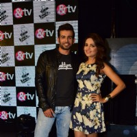 Jay Bhanushali and Sugandha Mishra at Launch of &TV's new show 'The Voice India Kids'