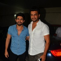 Hussain Kuwajerwala and Sharad Kelkar at the special screening of 'Madaari'