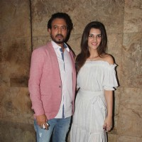Kriti Sanon with Irrfan Khan at the special screening of 'Madaari'