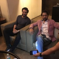 Jackky Bhagnani with Irrfan Khan at the special screening of 'Madaari'