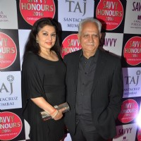 Filmmaker Ramesh Shippy with his wife Kiran Sippy at Savvy Honours 2016