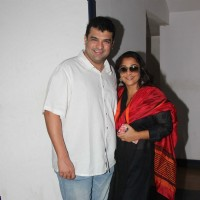 Siddharth Roy Kapur and Vidya Balan at Screening of movie 'Kabali'