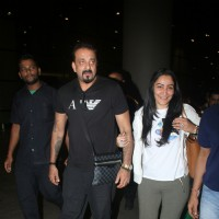 Actor Sanjay Dutt with Manyata Dutt spotted at airport!