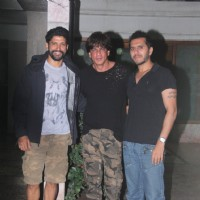 Ritesh Sidhwani, Farhan Akhtar and Shah Rukh Khan snapped at Excel office
