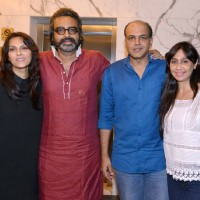 Ashutosh Gowarikar and Sunita Gowariker at Special screening of the film 'Dishoom'