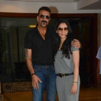 Sanjay Dutt with Wife Manyata Dutt on his Birthday