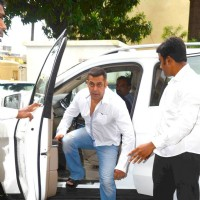 Salman Khan at prayer meet of  Rajat Barjatya
