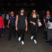 Karan Singh Grover and Bipasha Basu spotted at airport!