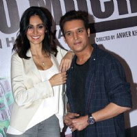 Actors Jimmy Shergill  and Bruna Abdullah at Launch of film 'Yea Toh Two Much Ho Gayaa'