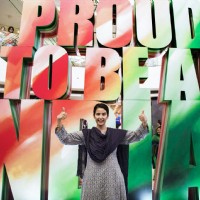 MANISHA KOIRALA SUPPORTS PROUD TO BE INDIAN CAMPAIGN AT SELECT CITYWALK
