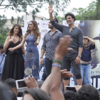 Promotion of 'Rustom' at Hansraj college in New Delhi