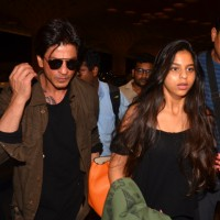 Shah Rukh Khan and Suhana Khan snapped