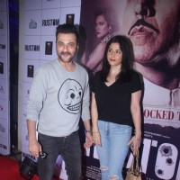Sanjay Kapoor along with wife Maheep Sandhu at Special Screening of 'Rustom' at Yashraj Studios