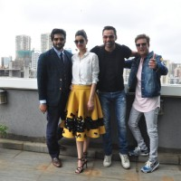 Jimmy Shergill, Diana Penty, Abhay Deol and Ali Fazal at Photo shoot of team 'Happy Bhag Jayegi'