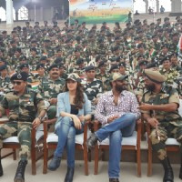 Ajay Devgn and Sayesha Saigal visited Attari border before Independence Day!