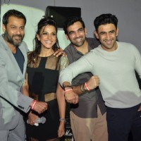 Manasi Scott, Abhishek Kapoor, Amit Sadh and Zaheer Khan at Manasi Scott's Album Launch