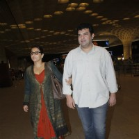 Vidya Balan snapped with Siddharth Roy Kapur at Airport