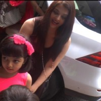 Aishwarya Rai Bachchan with her Daughter at Vidya's kids Bday Bash