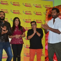 Riteish Deshmukh, Krishika Lulla and Ravi Jadhav at Launch of the song 'Bappa Tu' of film Banjo